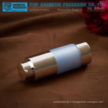 Service d'oem de ZB-RB15 15ml fournie pompe de haute qualité lotion tourner rond bouteille de 15ml acrylique pompe airless de 15ml