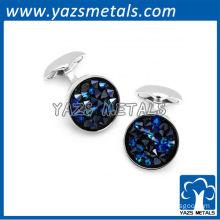 Blue diamond cut Cufflinks