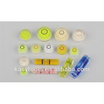 mini round bubble level vials