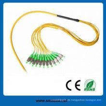 Faser Pigtail mit FC / APC und Sc / APC Steckverbinder