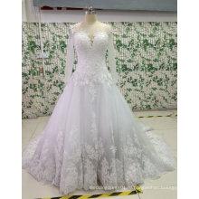 Новый шарик/жемчуг/горный хрусталь свадебные платья с аппликациями