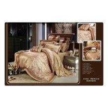 Tencel / jacquard de algodón + bordado de lujo rey dormitorio establece