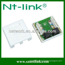 2 port cat5e utp rj45 surface box