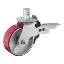 Totalt Låst 6 tums Industrial Wheel Caster