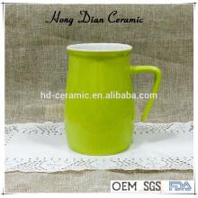 450ml vaso de cerámica, taza de cerámica con tapa, taza de cerámica con color, material de gres vaso de cerámica con mango