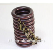 On Sale Living Room Walnut Wooden Curtain Pole Rings