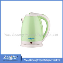 1.8 L Colourful Electric Kettle Hotel Water Kettle Stainless Steel Kettle Sf-2007 (Green)