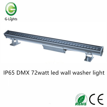 IP65 DMX 72watt led illuminante a parete