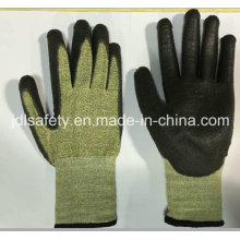 18 калибровочных арамидные волокна безопасности перчатка с стекловолокно (K3054)