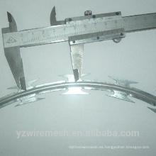 Alambre de afeitar de la concertina / alambre de púas galvanizado de la maquinilla de afeitar / alambre de púas de la seguridad de la alta seguridad