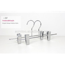 New Design Beautiful Silver Color Metal Pants Hanger with clips