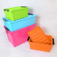 Caja de plástico plana utilizada debajo de la cama Cajas de almacenamiento anidadas de Household Essentials