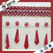 Hand made acrylic plastic bead fringe for curtain and lampshade