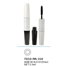 Fashion Natural Beautiful White Cosmetic Mascara Bottle