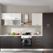 projetos de cozinha modular pequena laca de alto brilho