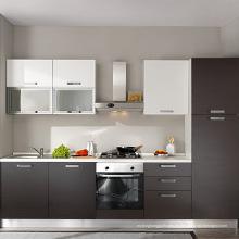 lacado alto brillo pequeños diseños de cocina modulares
