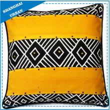 Домашнее украшение черный / желтый дизайн подушки