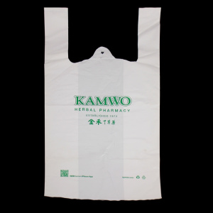 HDPE Retail Recycling T-shirt Bag