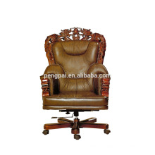 customized antique office chair with photos