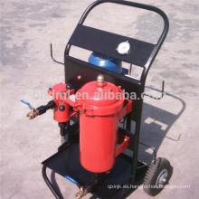 Carros de filtro de aceite de deshidratación de coalescencia 4 ruedas que dispensan el carro de acero del tambor de aceite del filtro porable