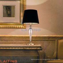 Lámpara de mesa de cerámica negra llevada moderna, lámpara de escritorio para la decoración casera 2111