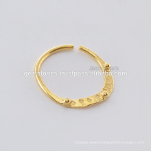 Handmade Gold Plated Septum Nose Ring, Wholesale 925 Sterling Silver Nose Ring Body Jewelry Suppliers