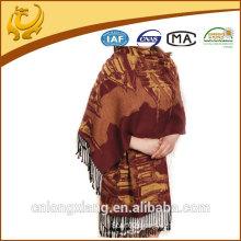 Silk jacquard with tassel pashmina scarves