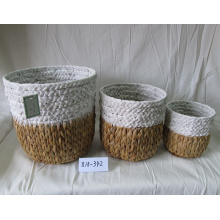 Nature Color Round Water Hyacinth Flower Pot