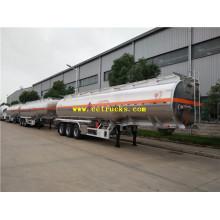 Remorques de réservoir de pétrole de Tri-essieu de 49m3