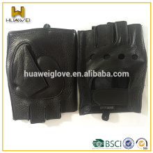 Men half finger gloves driving leather gloves