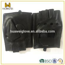 Men half finger gloves driving leather gloves