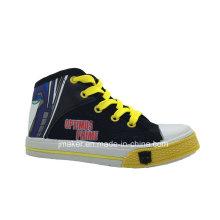 Zapatillas de deporte de dibujos animados Cool High Tobillo Zapatos para niños (X167-S & B)