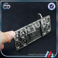 TCCC ADUIT FACTORY Impresión promocional cinturón hebilla en blanco