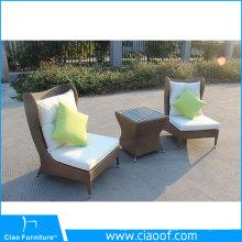 Nouvelle image de meubles d'extérieur en osier noir de style européen