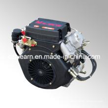Air-Cooled Two Cylinder Diesel Engine Black Color (2V86F)