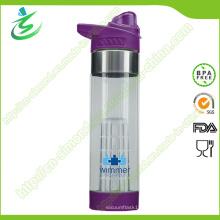 650 Ml BPA Frasco de infusión de agua libre Etiqueta de encargo de la botella de agua