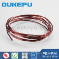 ISO NEMA Class200 red black color awg Enameled square copper wire