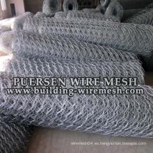 Revestimiento de alambre hexagonal galvanizado / PVC