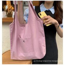 korean style new trending canvas bag students shoulder bag large capacity shopping bag