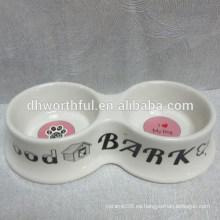 Tazón de cerámica para mascotas de perro de alta calidad