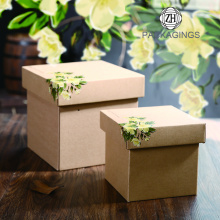 Kraft Paper Lid and Base Box for Gifts