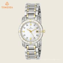 Relógio de relógio com detalhes de diamante feminino 71200