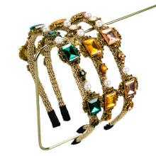 Bandeau Diamond Headband Luxury Hair Accessories Retro Korean Fashion Rhinestone Alloy Hairband Baroque Gorgeous Pearl Women