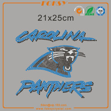 Carolina Panthers nfl rhinestone iron on