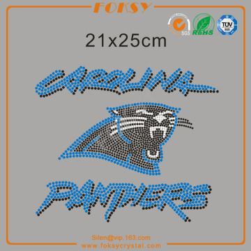 Carolina Panthers nfl rhinestone iron på