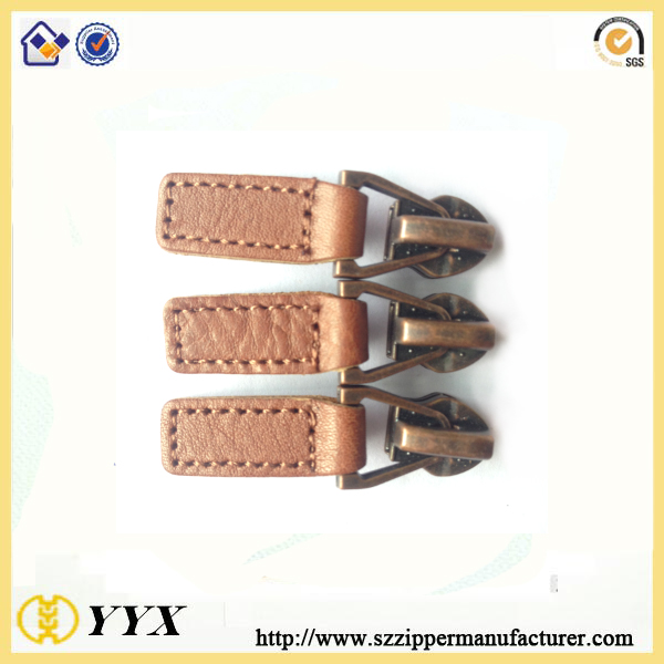 Thread Sewing PU Zipper Puller
