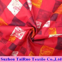 Polyester pongé d'impression utilisé pour les manteaux et la veste des femmes
