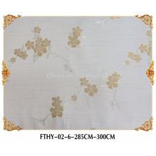 Papier peint Feitex vert 3d, matériel de mur de textiles, papier peint de tissu de jacquard