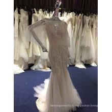 Новое Прибытие 2017 Русалка свадебное платье с нежным кружевом