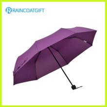 Manual clásico abierto 3 plegable paraguas Rum-085